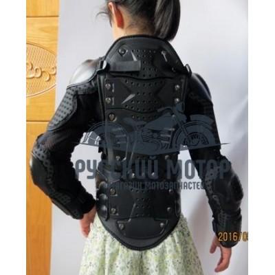 Защита тела (черепаха) АМ02-Kids детская черная S (110 cm.) THUNDER WOLF
