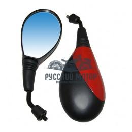 Зеркала заднего вида №60 пластик литой корпус красное М8