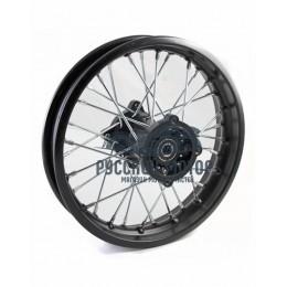 Диск колеса задний стальной на спицах 1.6 - 12' обод черный, дисковый тормоз ось 15мм TTR110