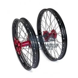 Диск колеса передний стальной на спицах 1.85 - 21' цвет черный, дисковый тормоз
