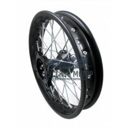 Диск колеса передний стальной на спицах 1.40 - 12' цвет черный, дисковый тормоз ось 15мм Питбайк