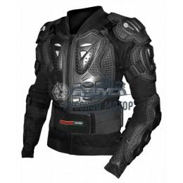 Куртка защитная (черепаха) AM02 черная (XXХL) Scoyco без логотипа