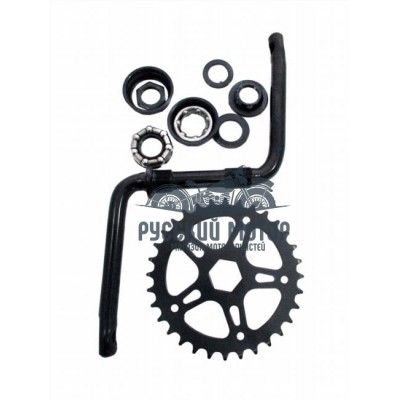 Комплект шатунов для детского велосипеда 18', 20' (шатун, звезда, чашки, гайки, подш-ки) 3011820