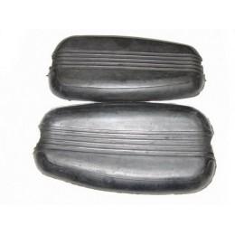Резиновые накладки (нигрипсы) на бензобак  (2 шт.) мотоцикла Урал